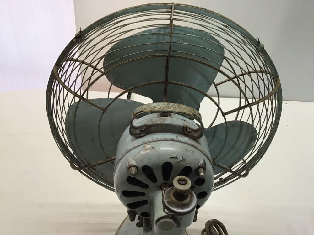 ●レトロ● ナショナル 扇風機 鉄製 3枚羽根 松下電器 アンティーク 古い インテリア 中古 古民家_画像6