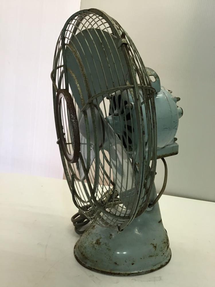 ●レトロ● ナショナル 扇風機 鉄製 3枚羽根 松下電器 アンティーク 古い インテリア 中古 古民家_画像3