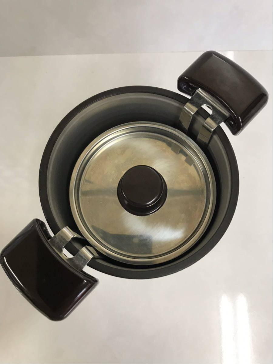 【中古】THERMOS サーモス shuttle chef シャトルシェフ 真空保温調理鍋 KPO-1200 ダークチェリー 箱、説明書なし d60/7b_画像5
