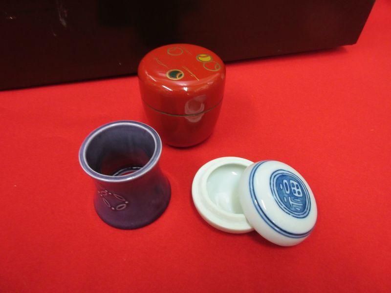 ★☆新品 茶道具■短冊箱セット・朱茶箱☆★_画像8