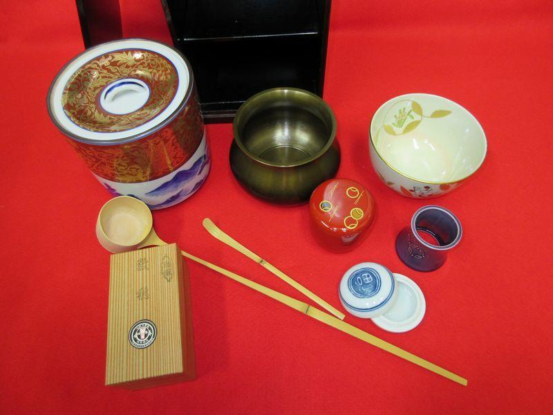 ★☆新品 茶道具■短冊箱セット・朱茶箱☆★_画像3
