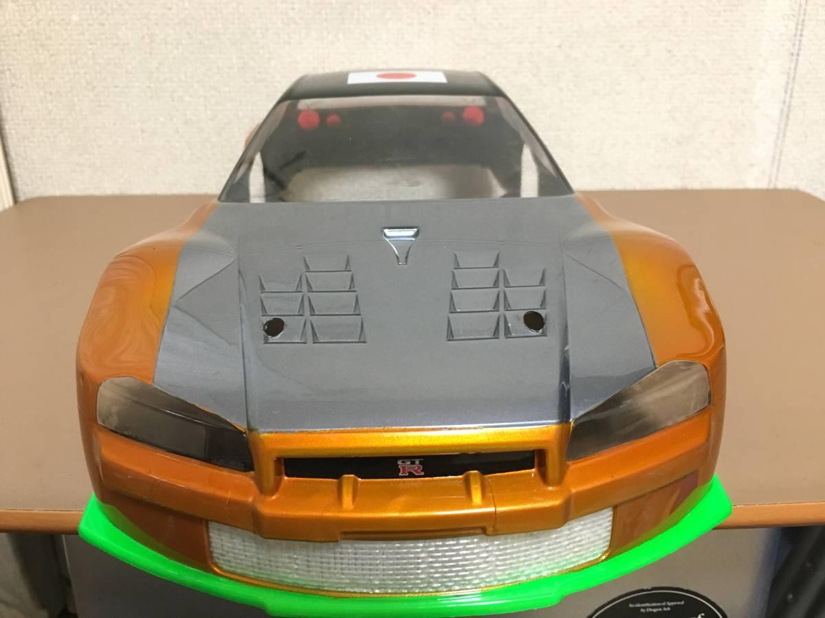 タミヤ GT-R R34 スカイライン 塗装済 ボディ ドリパケTTTAOTACERVDFoverdose 2駆 4駆 ラジドリ ドリラジ ラジコン_画像1