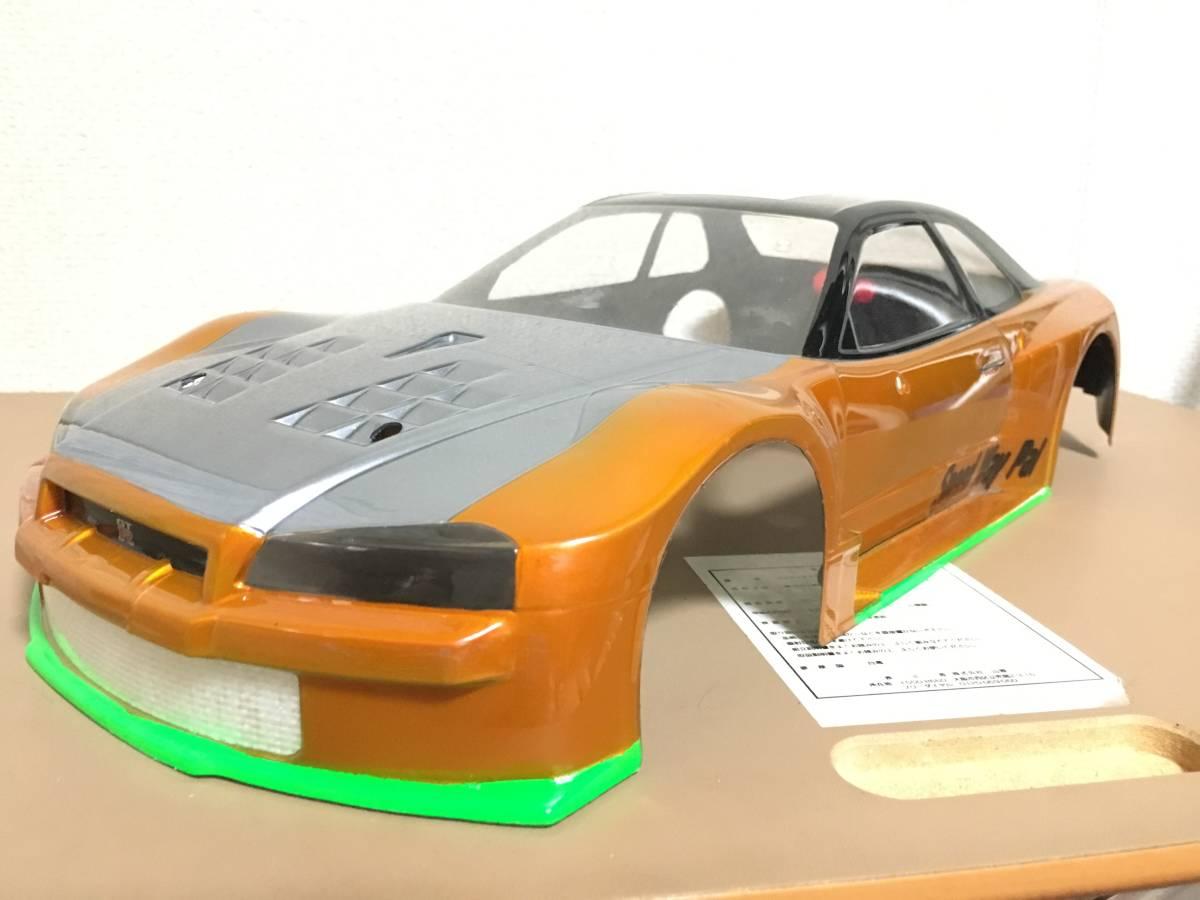 タミヤ GT-R R34 スカイライン 塗装済 ボディ ドリパケTTTAOTACERVDFoverdose 2駆 4駆 ラジドリ ドリラジ ラジコン_画像2