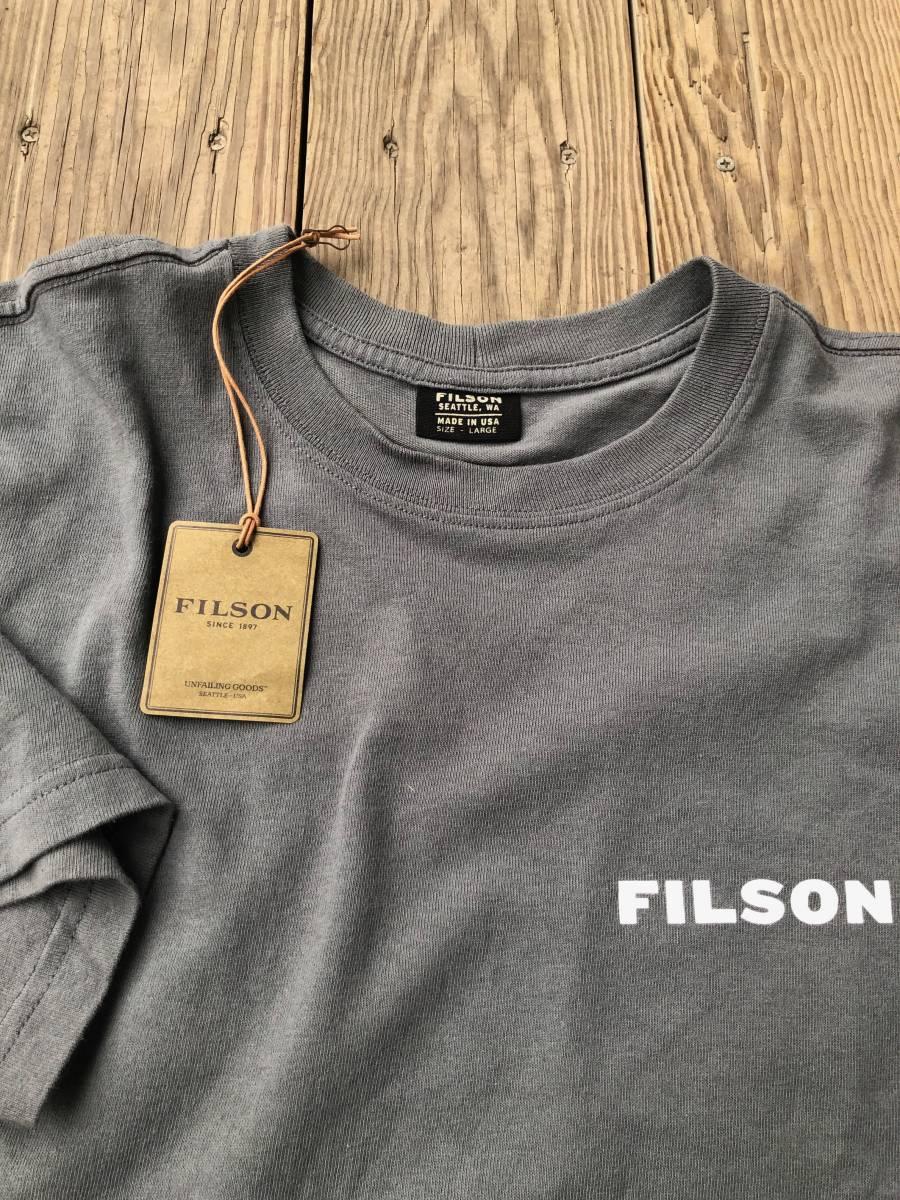 FILSON フィルソン フィッシュ トラウト プリント made in USA Tシャツ_画像6