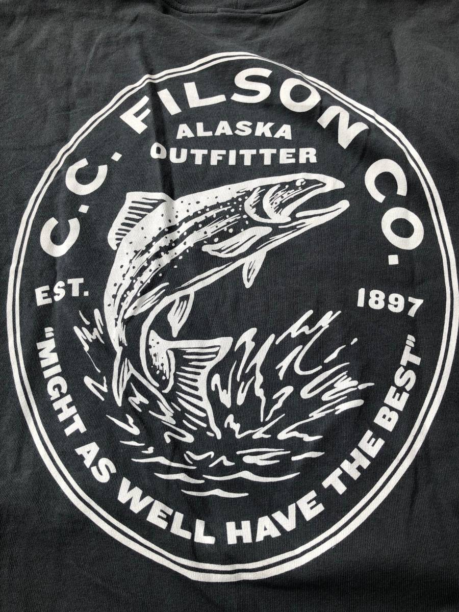 FILSON フィルソン フィッシュ トラウト プリント made in USA Tシャツ_画像1