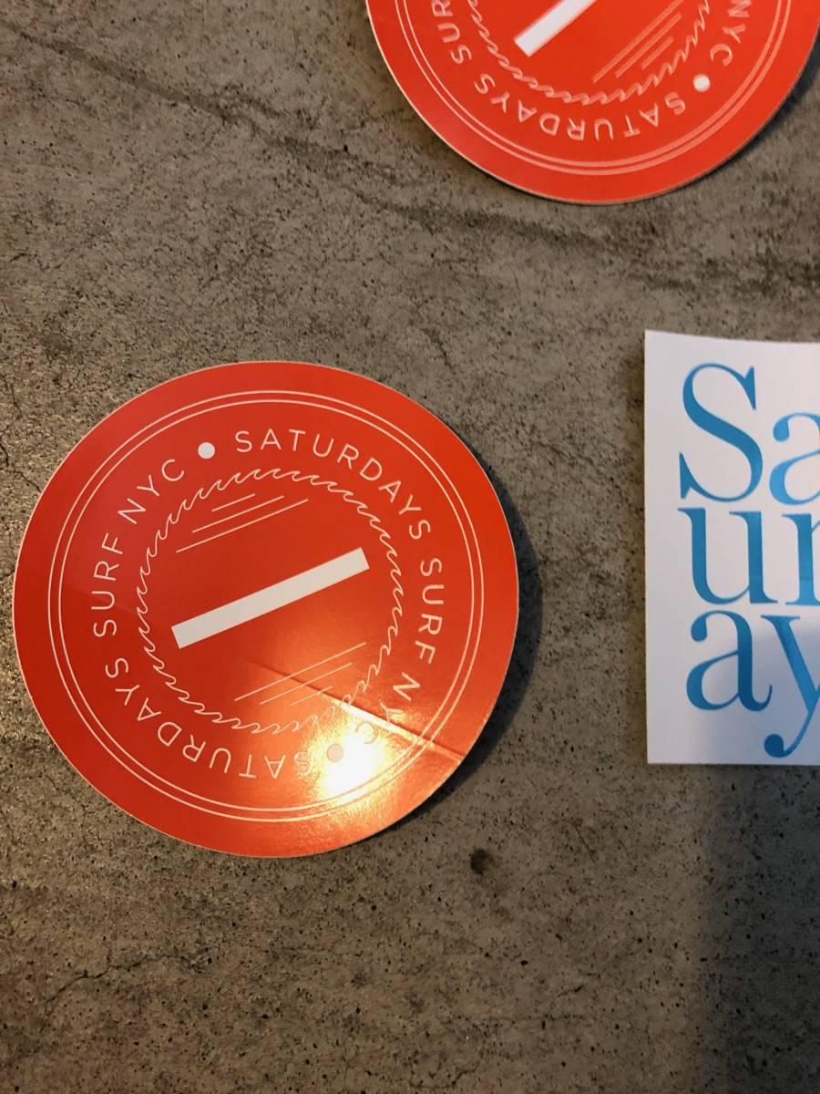 SATURDAYS SURF NYC サタデーズ サーフ NYC ステッカー 6枚セット_画像4