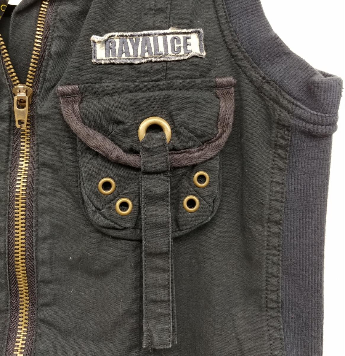 RAYALICE 女児ワンピース ノースリーブ 襟つき  サイズ:140㎝ QUAL:綿100% col:ブラック 新品未使用(タグ付き) _画像3