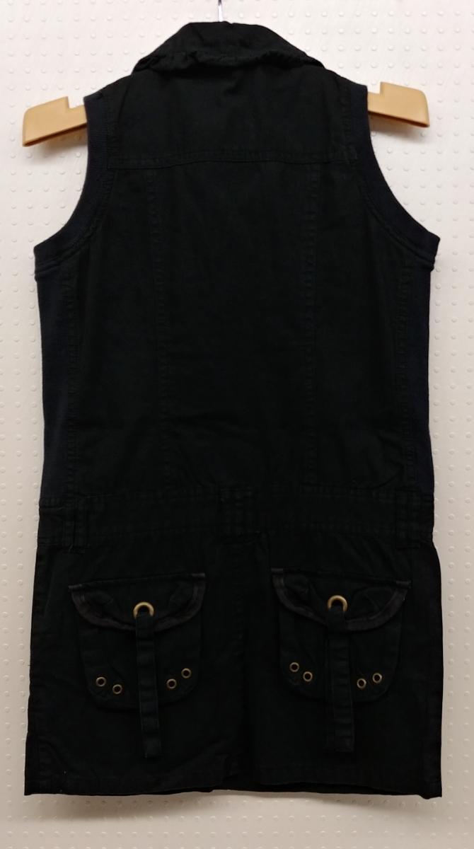 RAYALICE 女児ワンピース ノースリーブ 襟つき  サイズ:140㎝ QUAL:綿100% col:ブラック 新品未使用(タグ付き) _画像2