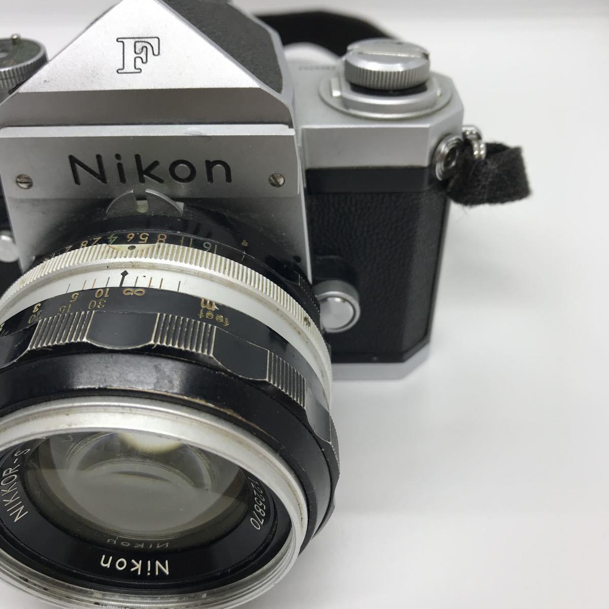 NIKON ニコン F 初期 アイレベル NIKKOR-S 1:1.4 50mm 一眼レフカメラ_画像3