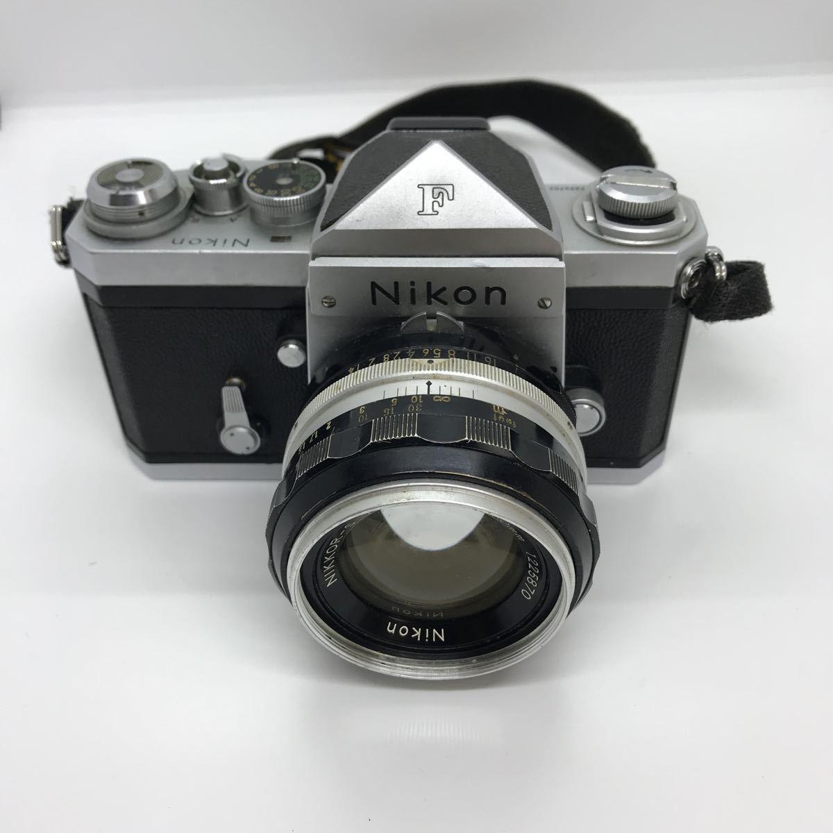 NIKON ニコン F 初期 アイレベル NIKKOR-S 1:1.4 50mm 一眼レフカメラ