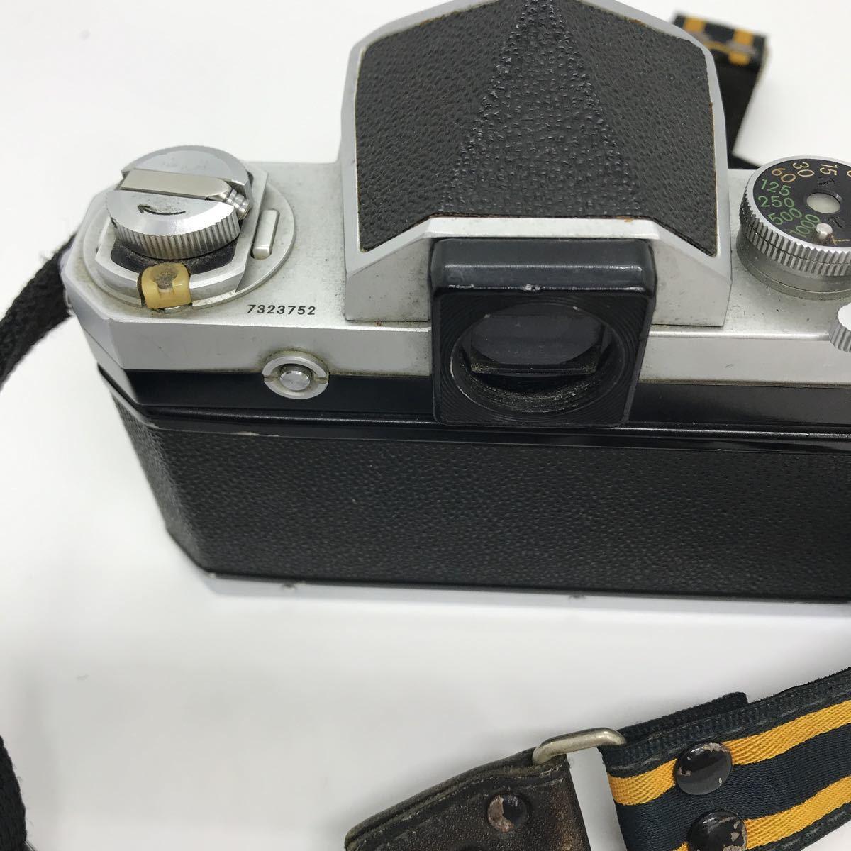 NIKON ニコン F 初期 アイレベル NIKKOR-S 1:1.4 50mm 一眼レフカメラ_画像4