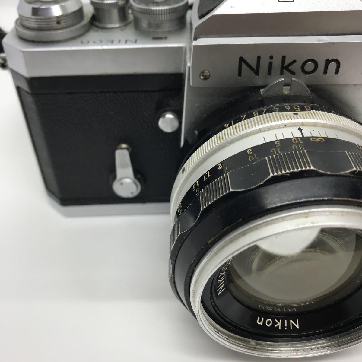 NIKON ニコン F 初期 アイレベル NIKKOR-S 1:1.4 50mm 一眼レフカメラ_画像2