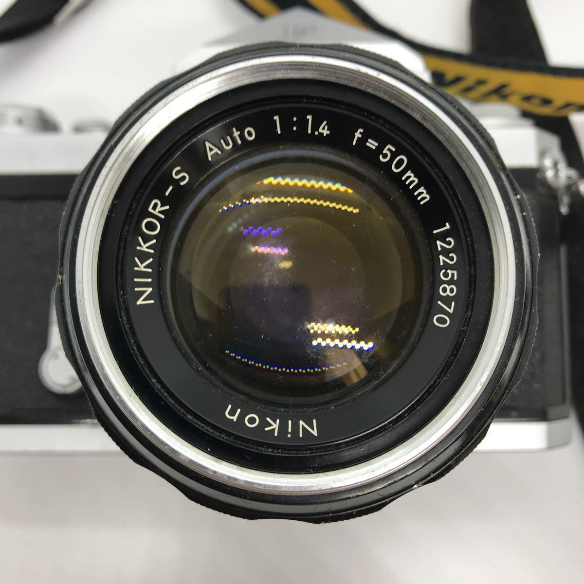NIKON ニコン F 初期 アイレベル NIKKOR-S 1:1.4 50mm 一眼レフカメラ_画像6