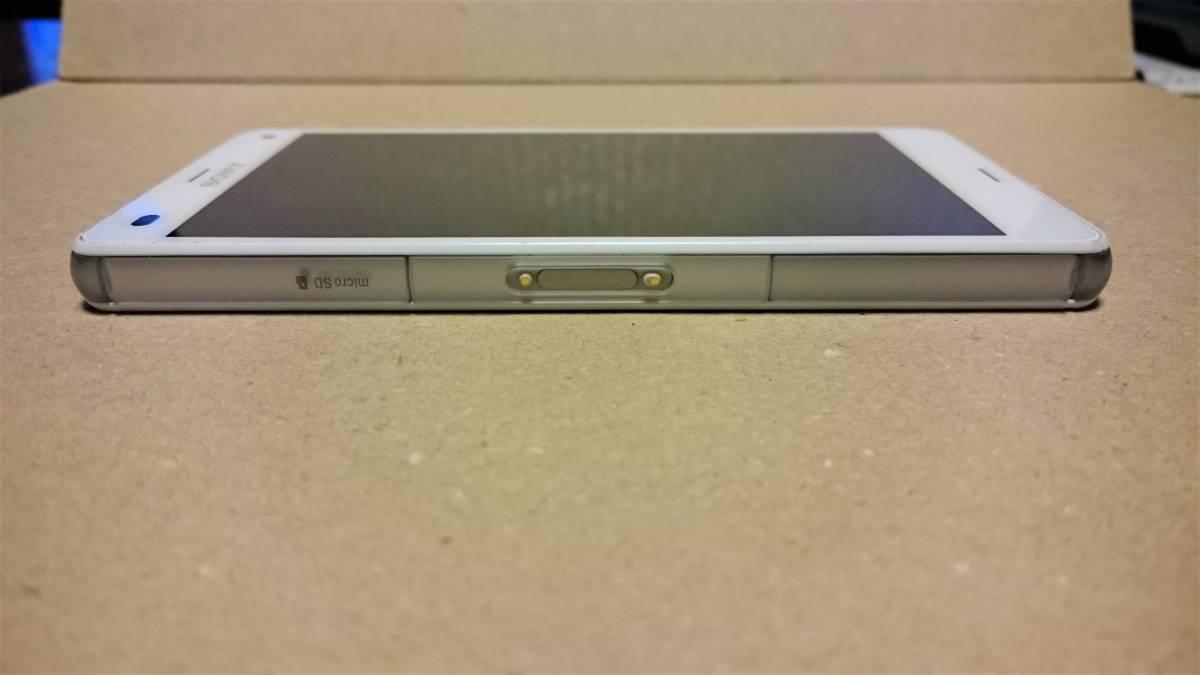 中古品 docomo SONY XPERIA Z3 Compact SO-02G White(白) 白ロム ネットワーク利用制限○_画像9