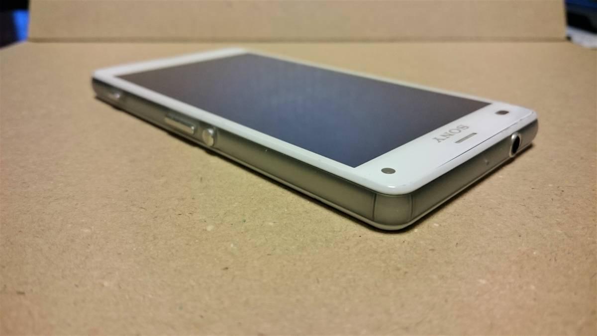 中古品 docomo SONY XPERIA Z3 Compact SO-02G White(白) 白ロム ネットワーク利用制限○_画像6