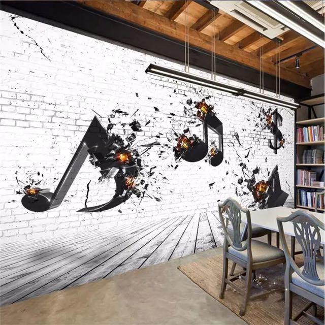 Beibehang カスタム 3d 壁紙音楽バー KTV 文化背景リビングルームベッドルームの背景壁画の装飾_画像2