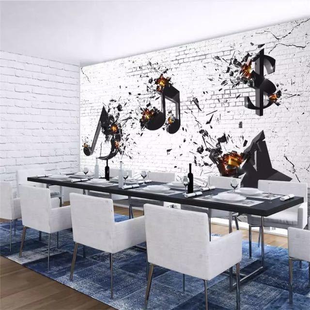 Beibehang カスタム 3d 壁紙音楽バー KTV 文化背景リビングルームベッドルームの背景壁画の装飾_画像3