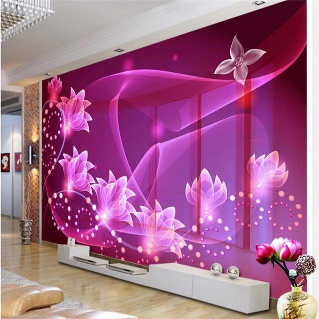Beibehang カスタム写真の壁紙壁画壁紙 3D 夢透明花テレビの壁装飾画 papel デ parede_画像1