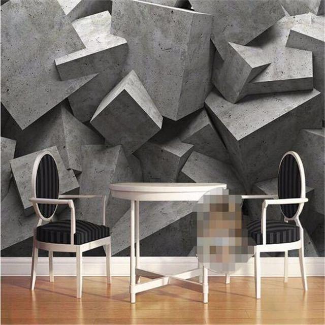 Beibehang 現代 wallpaper3d 背景大絵画コンクリートレンガアートパネル murales デ パレーホテル badroom リビングルーム_画像2