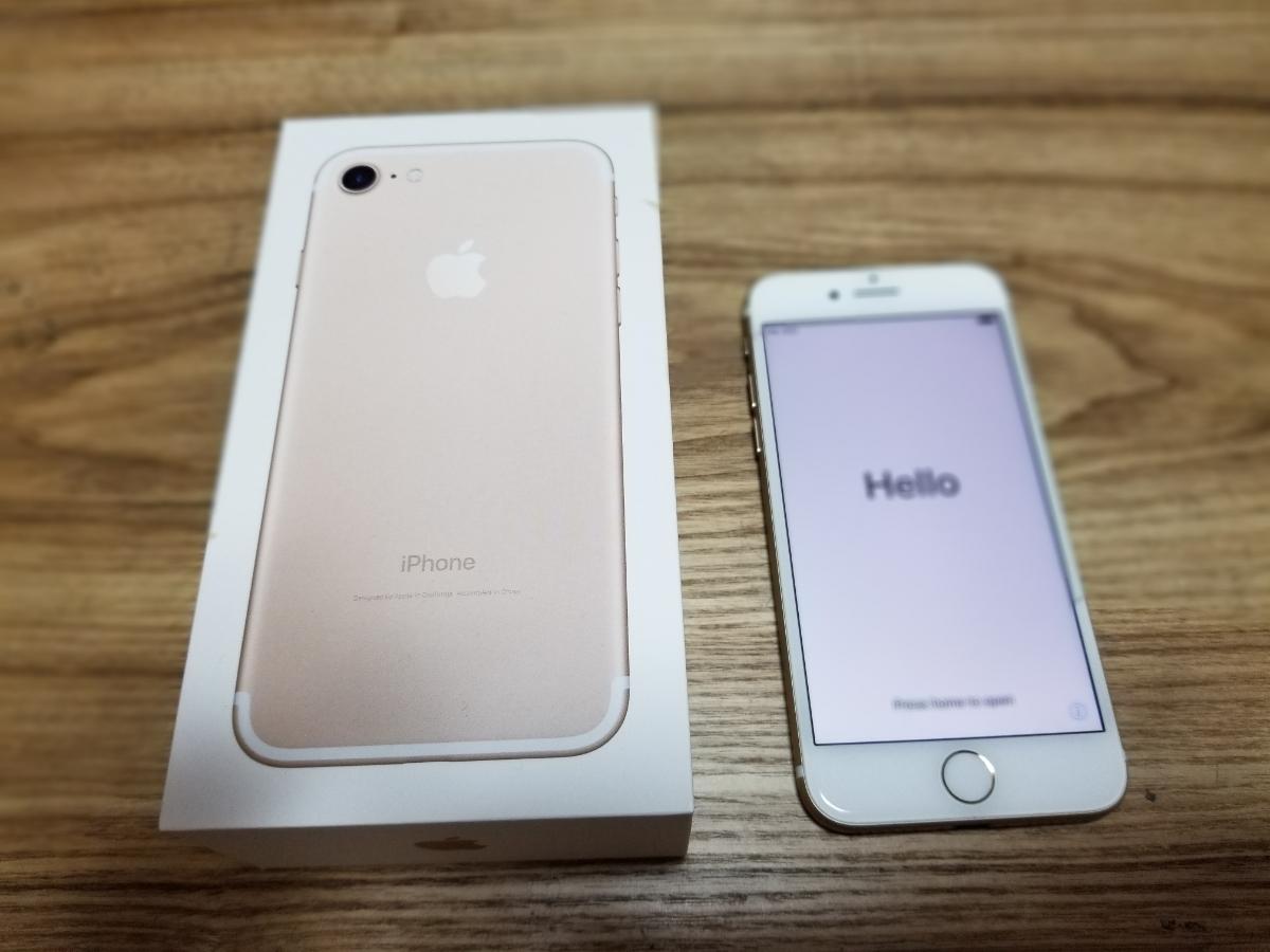 中古美品 docomo iPhone7 ゴールド 32GB 本体 残債無し SIMフリー SIMロック解除済み Apple 白ロム_画像2