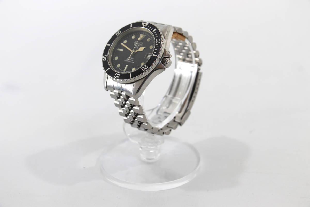 【超希少 旧ロゴ】TAG HEUER 1000 QUARTZ 200m クオーツ プロフェッショナル 腕時計 タグホイヤー レトロホイヤー サブマリーナ ビンテージ_画像3