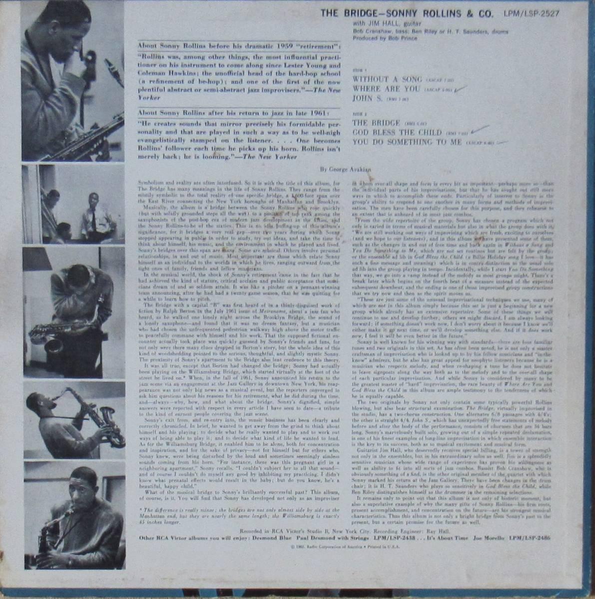 LP◆SONNY ROLLINS / The Bridge◆orig. mono DG_画像2