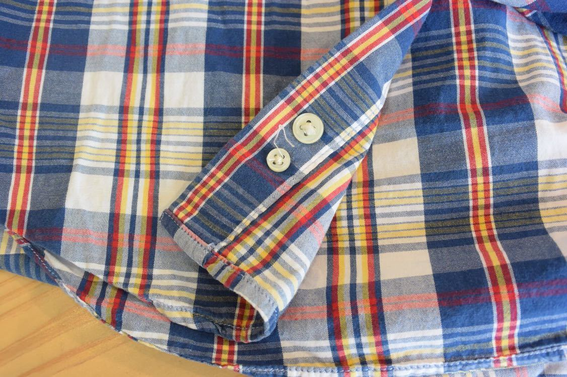 古着 Ralph Lauren Boys Lサイズ 美品 チェック 半袖シャツ ラルフローレン ボタンダウン ヴィンテージ ビンテージ キッズ T0294_画像5