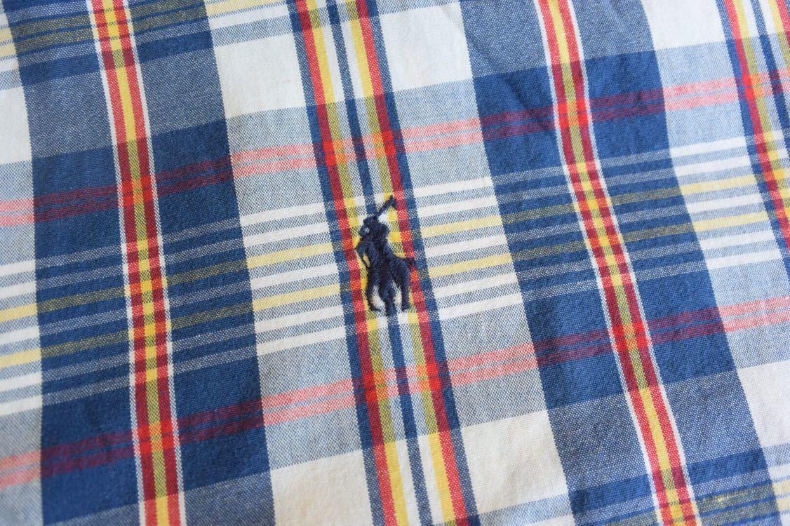 古着 Ralph Lauren Boys Lサイズ 美品 チェック 半袖シャツ ラルフローレン ボタンダウン ヴィンテージ ビンテージ キッズ T0294_画像4