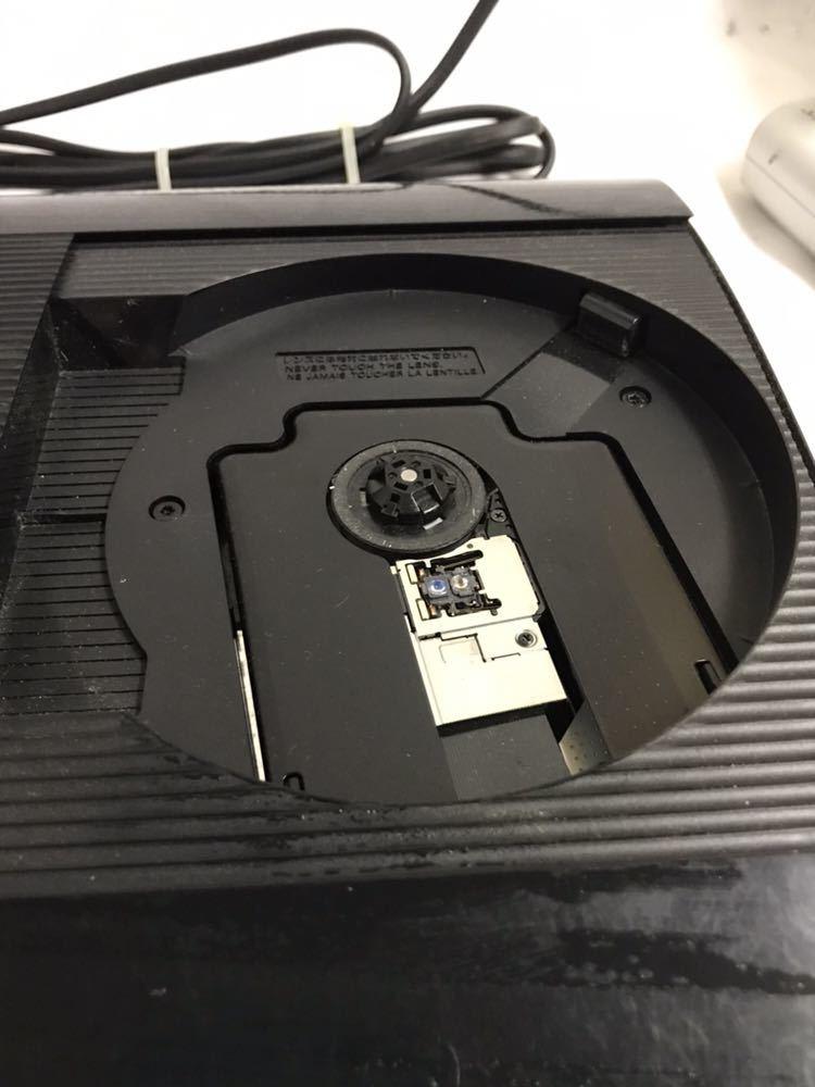 【1円~】PlayStation3/プレステ3/PS3 ゲーム機本体 CECH-4000C コントローラー付き ブラック 500GB ジャンク_画像4