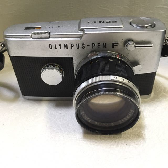 ※ OLYMPUS オリンパス PEN-F 202453/ G.Zuiko Auto-S 1:1.4 f=40mm150521/ E.Zuiko Auto-T 1:3.5 f=100mm 222330フィルムカメラ_画像2