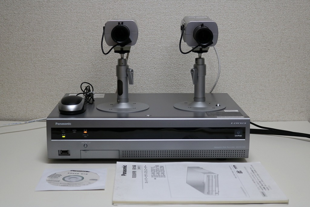 送料無料 パナソニック 防犯カメラセット DG-NV200 DG-SP304V 2台 中古
