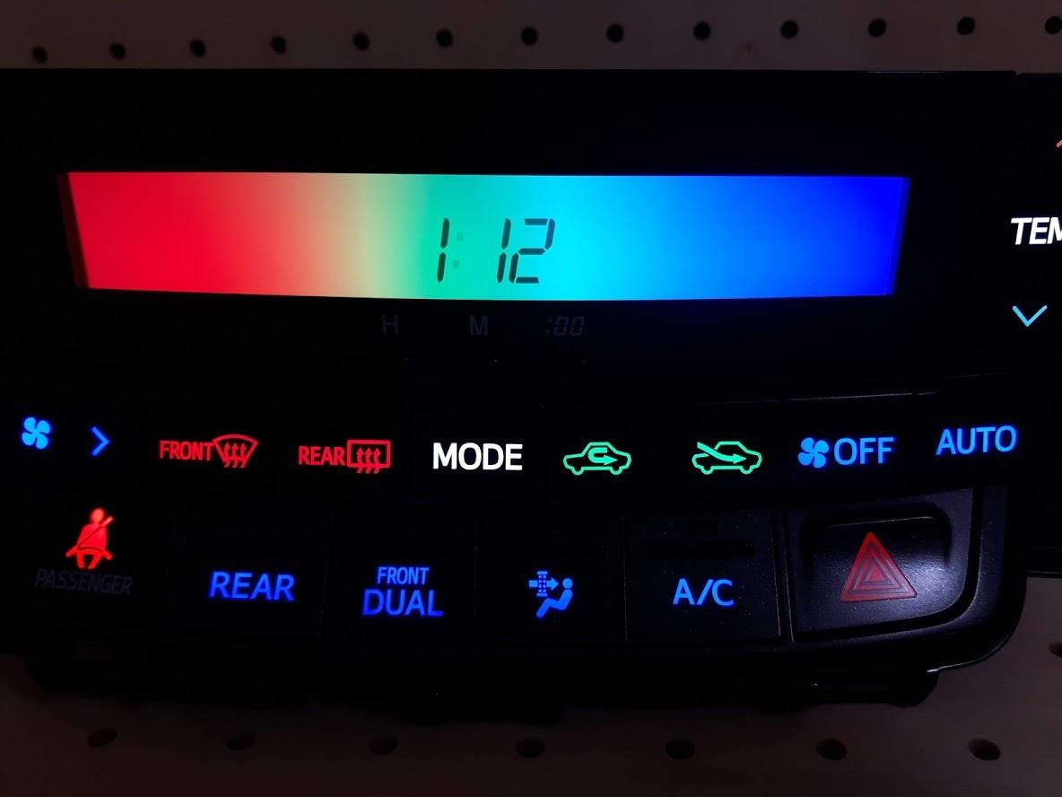 ★☆アルファード / ヴェルファイア ANH20W 前期型 エアコン スイッチ パネル LED打ち変え済み完成品☆★
