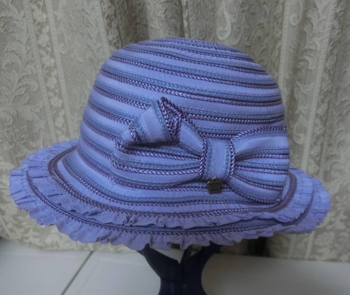 ◆アナスイミニ◆可愛い麦わら帽子◆パープル◆リボン◆超美品◆ANNASUImini◆_画像2