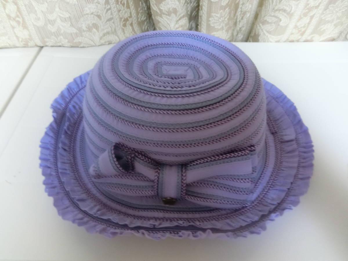 ◆アナスイミニ◆可愛い麦わら帽子◆パープル◆リボン◆超美品◆ANNASUImini◆_このお色目が1番近いお色になります♪