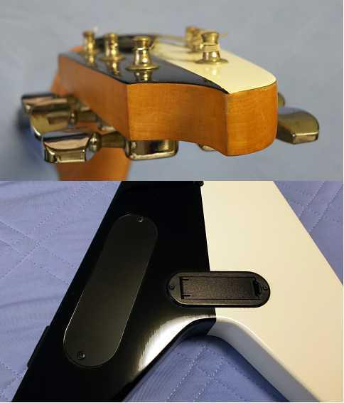 美品 GIBSON・ギブソン風 マイケルシェンカー・Michael Schenker風 フライングV KGarage Junior アンプ内臓 ZO-3風 ミニギター ジャンク_画像9