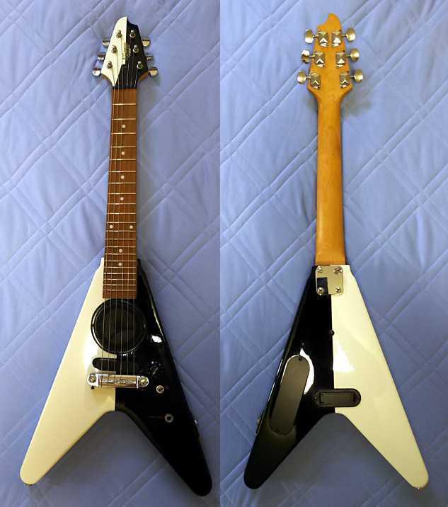 美品 GIBSON・ギブソン風 マイケルシェンカー・Michael Schenker風 フライングV KGarage Junior アンプ内臓 ZO-3風 ミニギター ジャンク