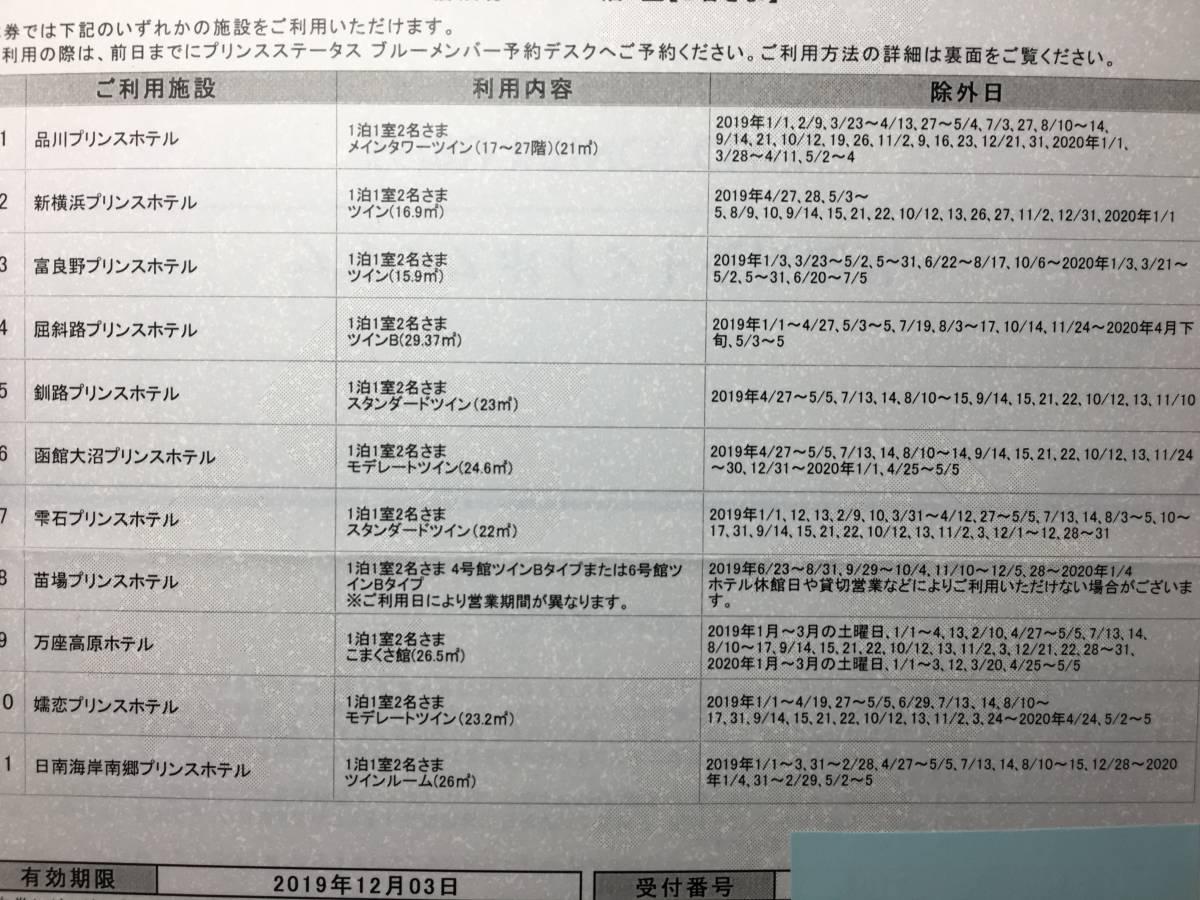 【送料無料】プリンスホテルペア宿泊券(約4万円相当のお部屋もあり。品川プリンスホテル他で利用可)_画像3