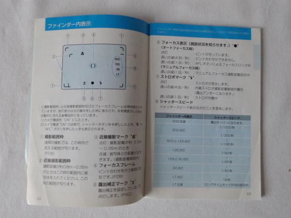 コンタックスT3/T3D取説_画像2