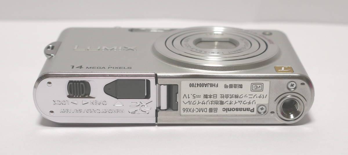 PANASONIC パナソニック デジタルカメラ 1410万画素 LUMIX  DMC-FX66 動作・美品 バッテリー DMW-BCF10付_画像7