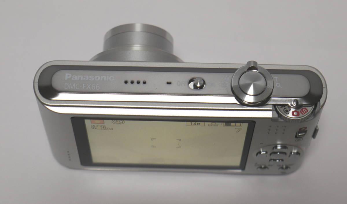 PANASONIC パナソニック デジタルカメラ 1410万画素 LUMIX  DMC-FX66 動作・美品 バッテリー DMW-BCF10付_画像6