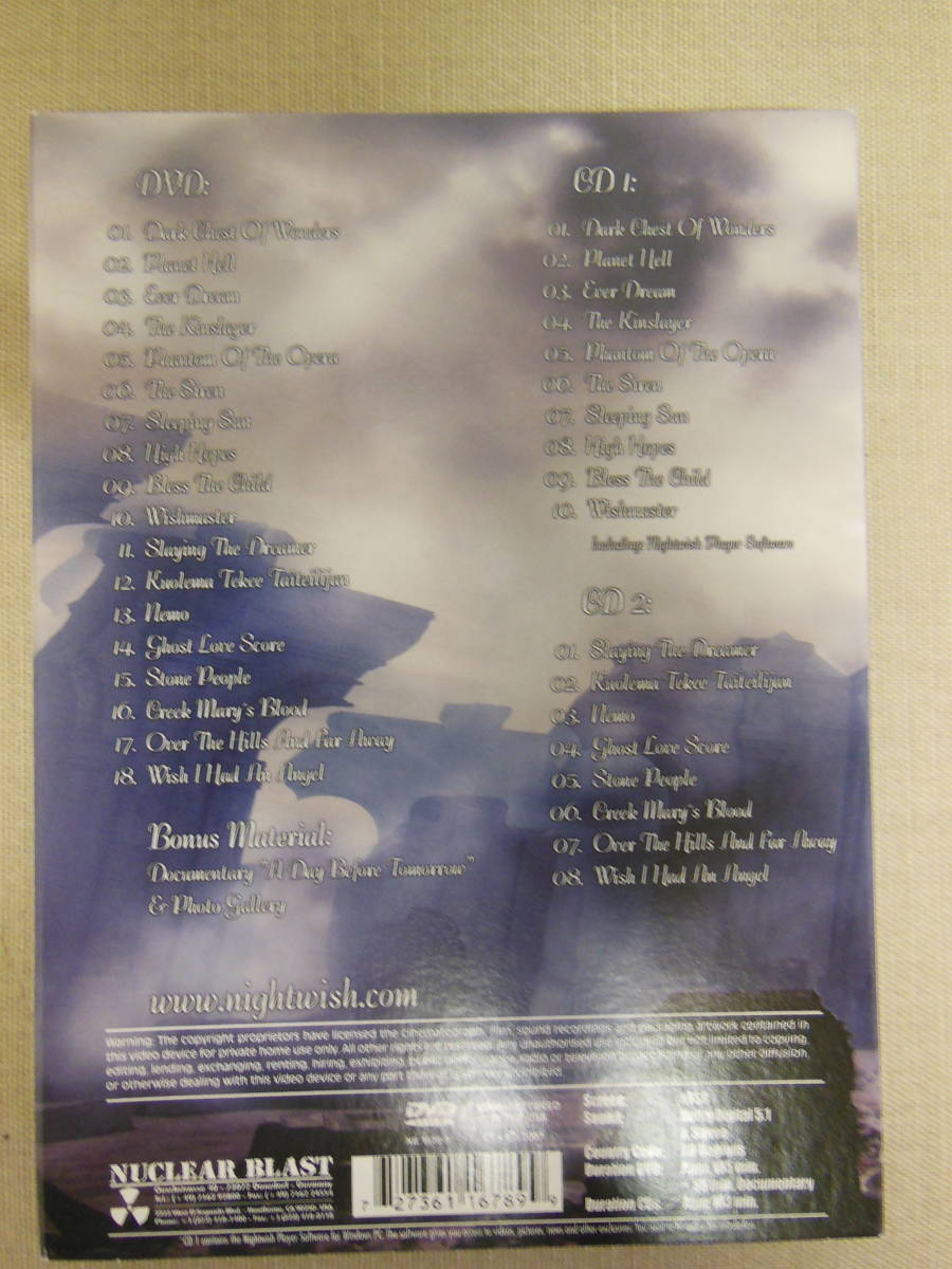"""◆フィンランド シンフォニック ナイトウィッシュ """"NIGHT WISH END OF AN ERA"""" ツアー・ファイナル・ライブ映像 CD/DVD セット_画像2"""