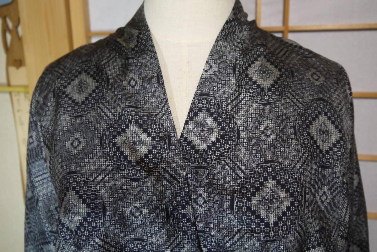 ★  D&C着物リメイク・カーデコート・絹・手織り大島紬・丸紋 ★_画像2