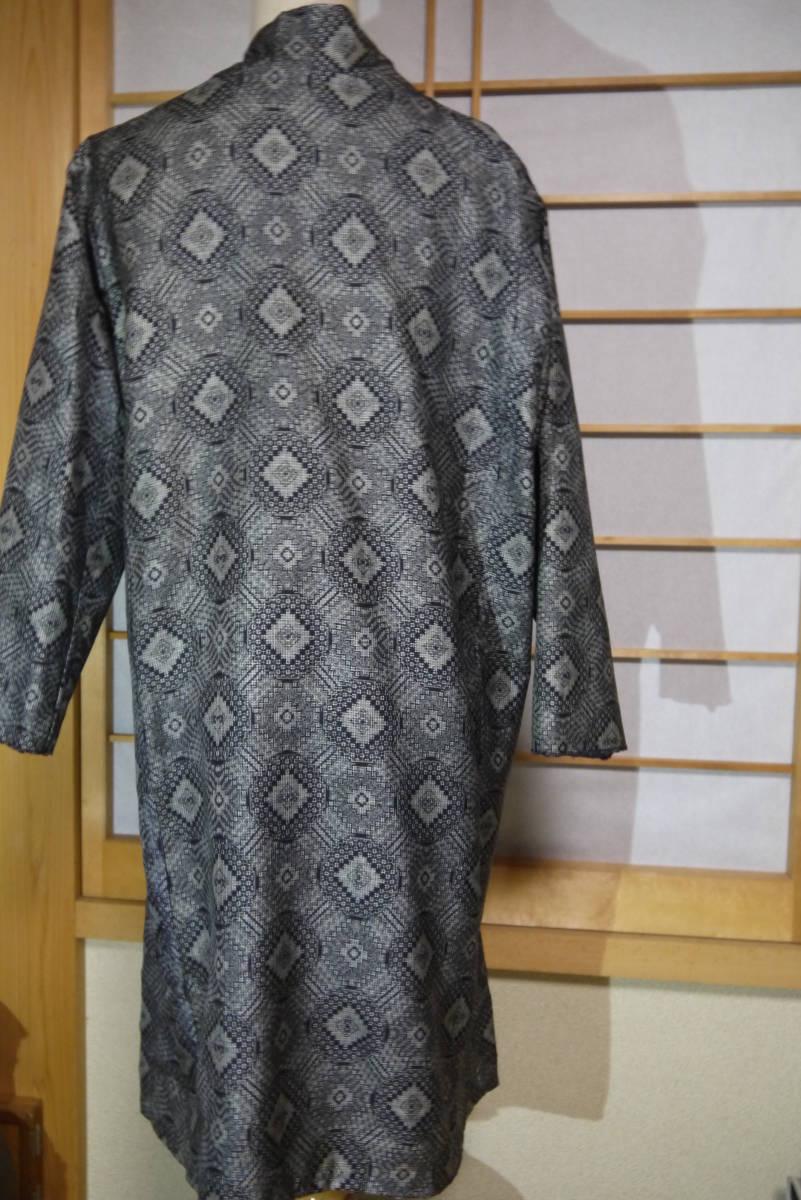 ★  D&C着物リメイク・カーデコート・絹・手織り大島紬・丸紋 ★_画像5