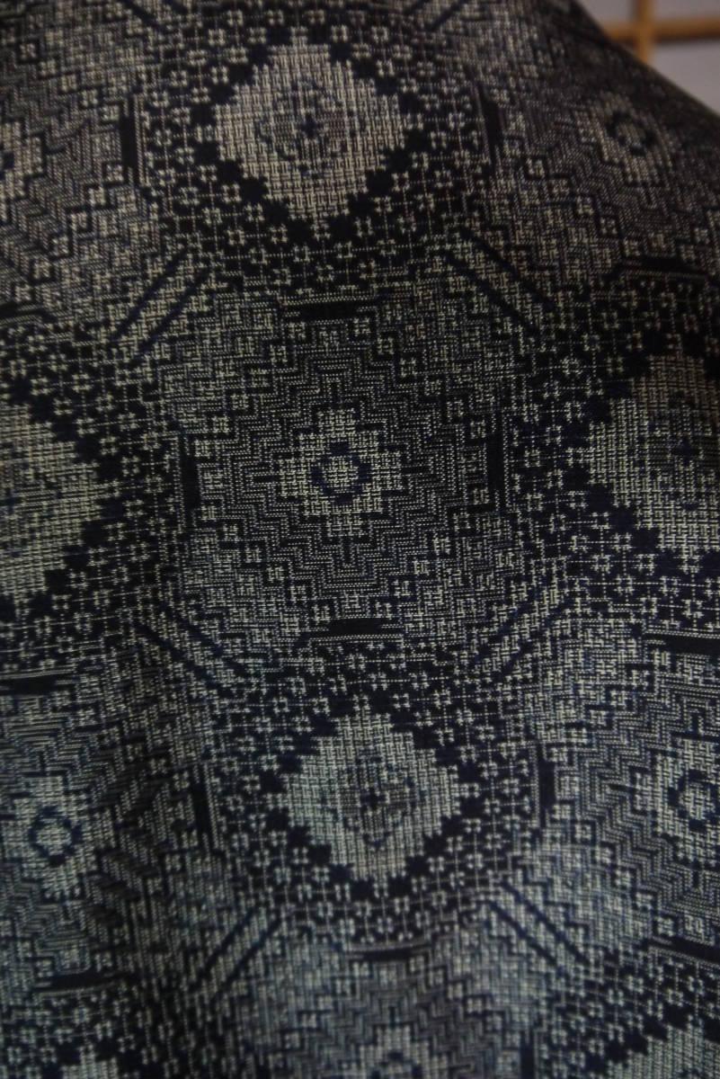 ★  D&C着物リメイク・カーデコート・絹・手織り大島紬・丸紋 ★_画像3