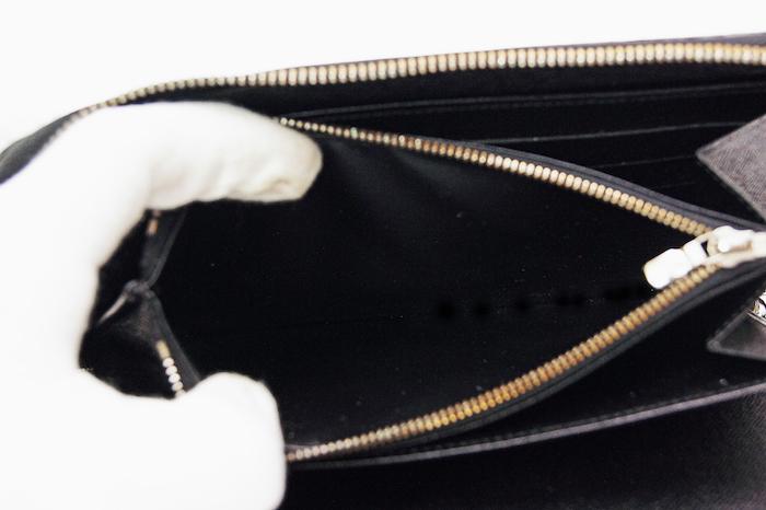 【極美品】ルイヴィトン LOUIS VITTON エピ ジッピーオーガナイザー ラウンド 長財布 パスポート 旅行 メンズ ノワール 定価約12万_画像9