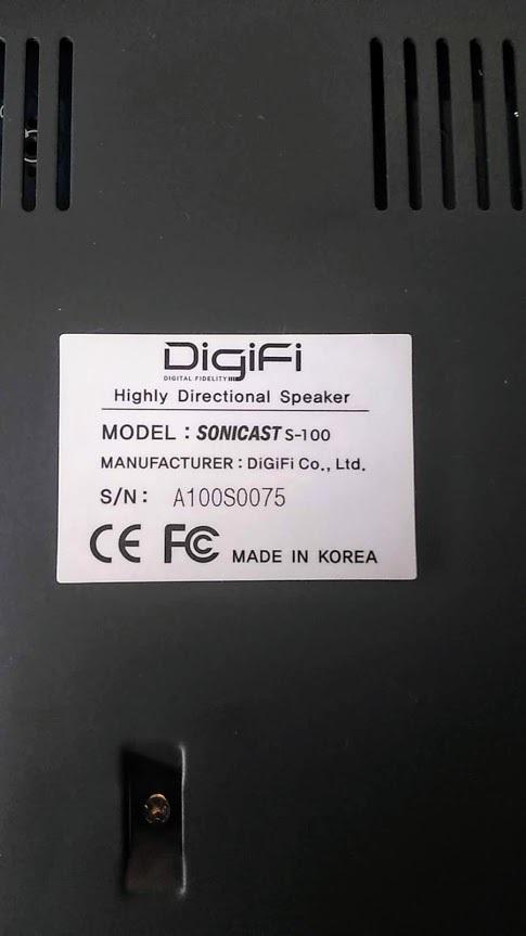 【中古】超指向性スピーカー Sonicast S100-140器 一定方向スピーカー おまけ:光デジタル アナログ 変換器付き_画像2