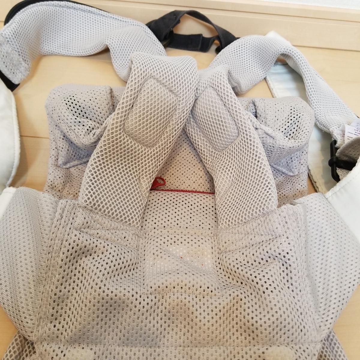 美品 ベビービョルン ベビーキャリア ONE Air グレー メッシュ 抱っこ紐 ワン 新生児_画像6