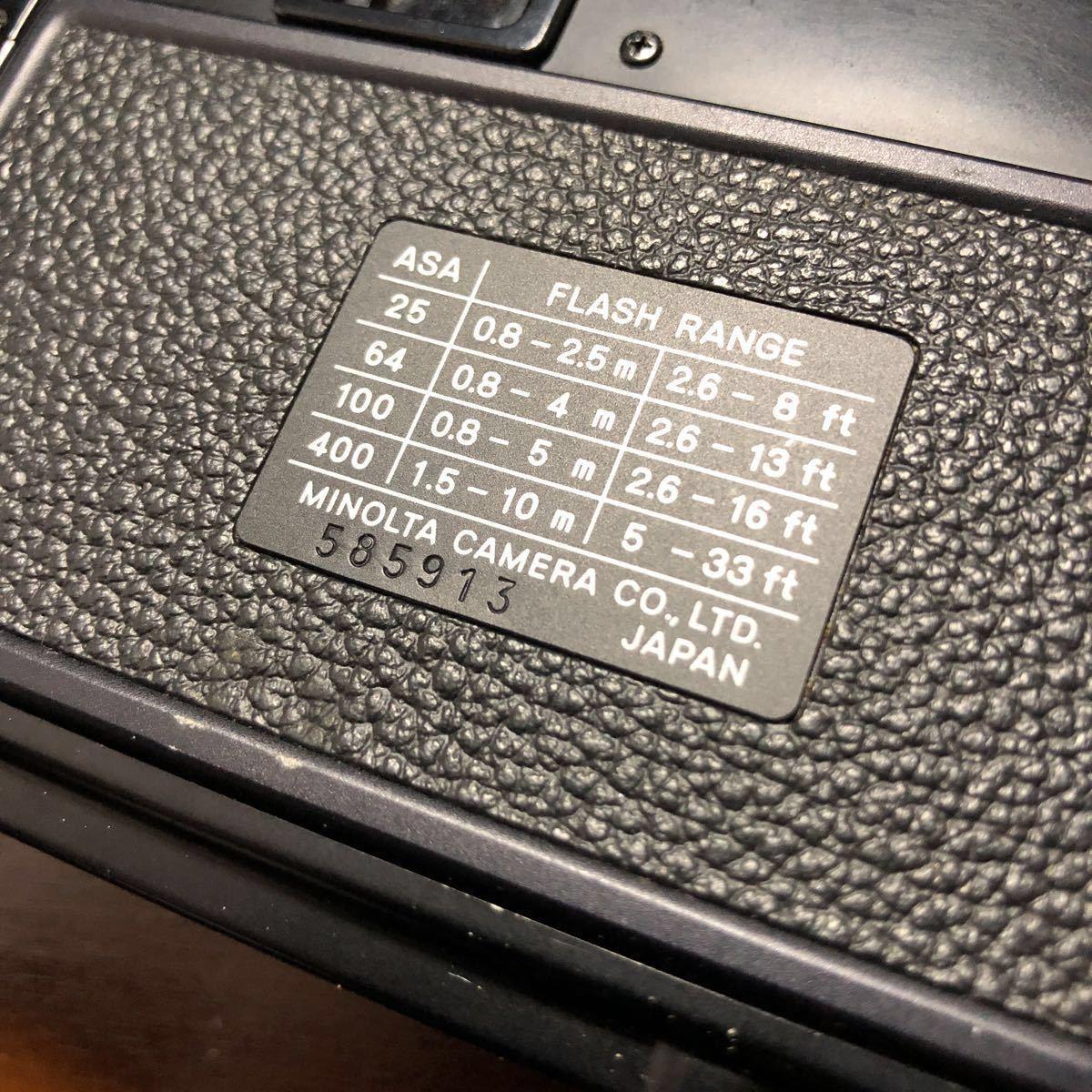 レトロ Minolta ミノルタ HI-MATIC F ブラック 黒 ROKKOR 1:2.7 f=38mm フィルムカメラ 現状品_画像6