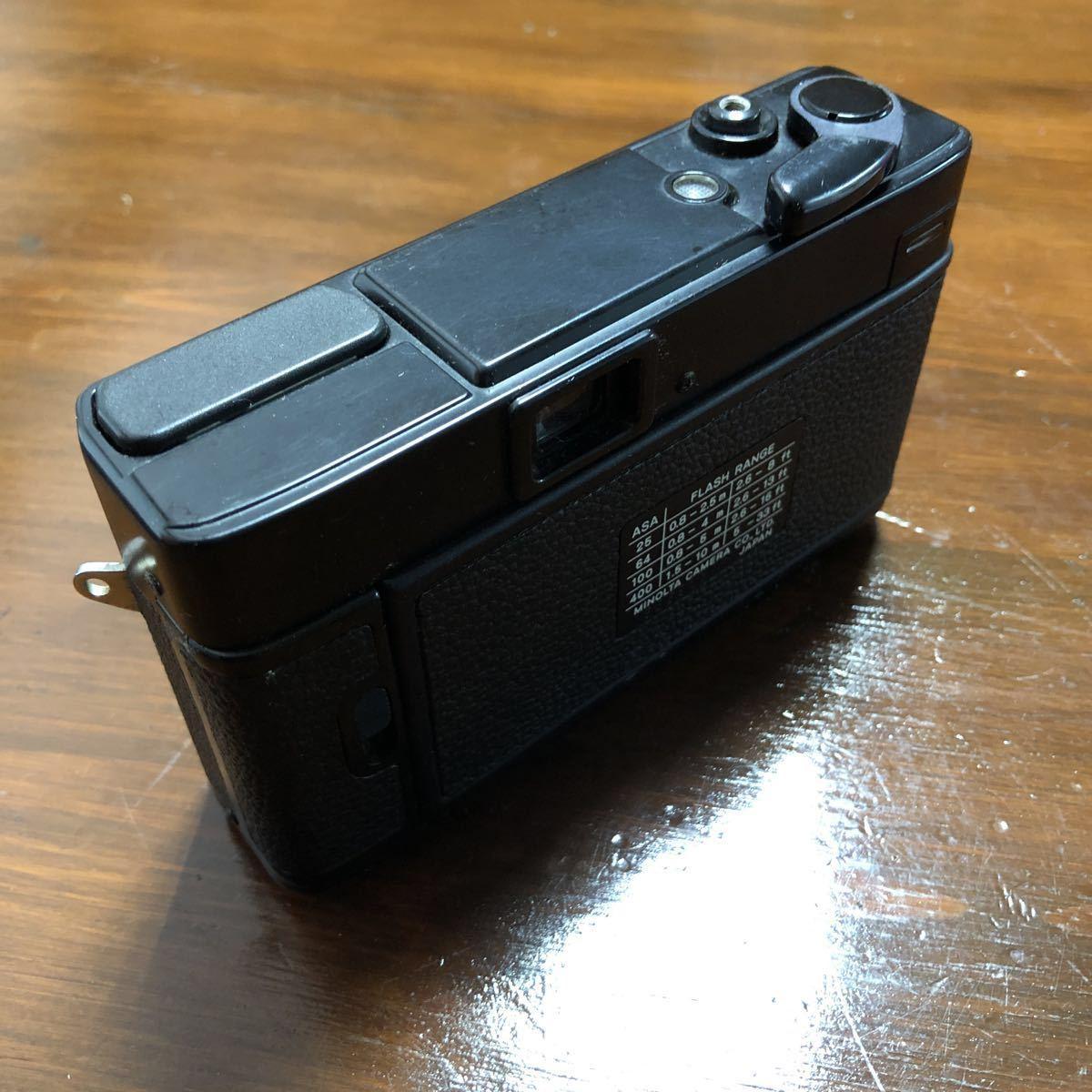 レトロ Minolta ミノルタ HI-MATIC F ブラック 黒 ROKKOR 1:2.7 f=38mm フィルムカメラ 現状品_画像5
