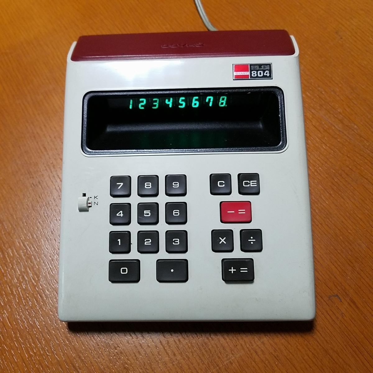 1973年製 希少 昭和レトロ SHARP シャープ EL-804 電光掲示電卓 計算機 日本製